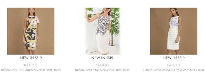 dresses worn by models