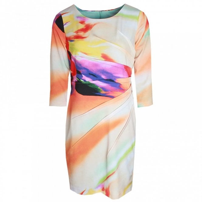 Frank Lyman 3/4 Sleeve Bright Print Shift Dress