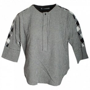 3/4 Sleeve Check Cotton Top