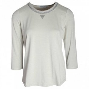 3/4 Sleeve Knitted Collar Top