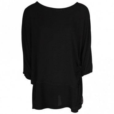 Crea Concept 3/4 Sleeve Lightweight Sheer Top