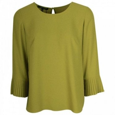 3/4 Sleeve Pleated Cuff Floaty Top
