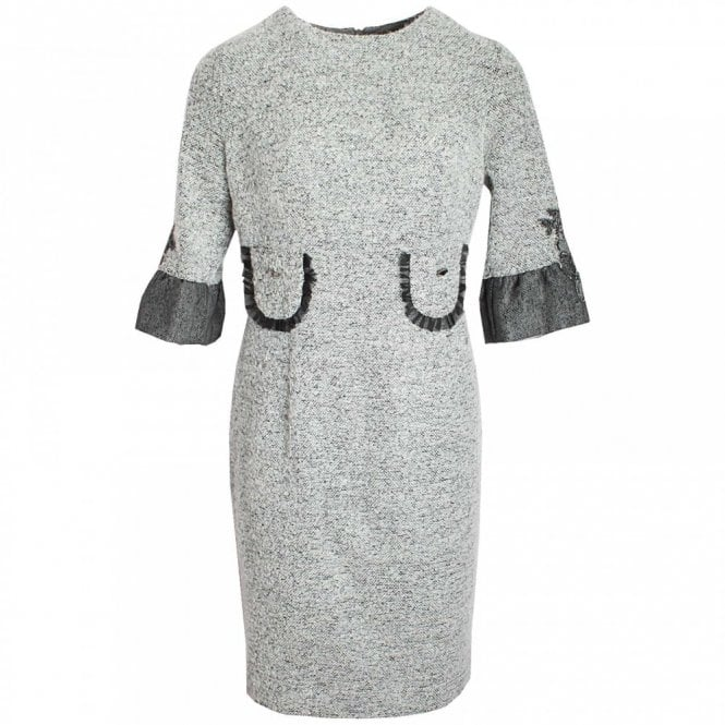 Badoo 3/4 Sleeve Shift Dress With Pockets