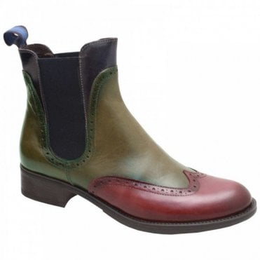 3 Colour Leather Chelsea Ankle Boot