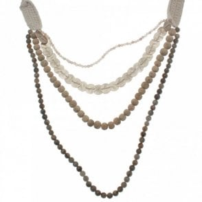 3 String Multi Bead Necklace