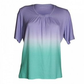 Frank Walder 3 Tone Short Sleeves Top