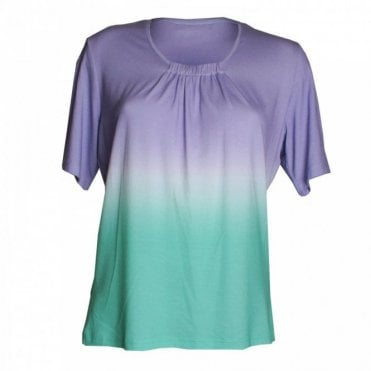 3 Tone Short Sleeves Top