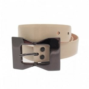 30mm Silver Bow Patent Belt