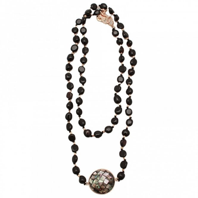 Bcharmd Abalone Shell Agate Mid Necklace
