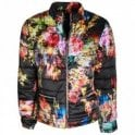 Frank Lyman Abstract Floral Print Padded Jacket