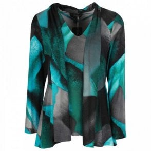 Abstract Print Camisole & Jacket Set
