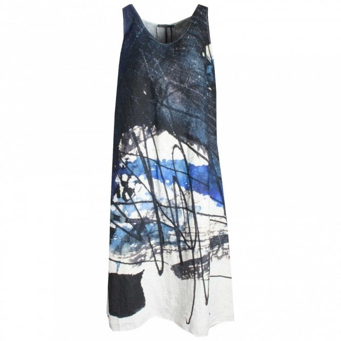 Crea Concept Abstract Print Sleeveless Dress