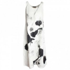 Abstract Print Sleeveless Dress & Slip