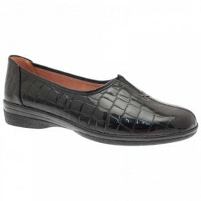 Alice Flat Crocodile Effect Moccassin