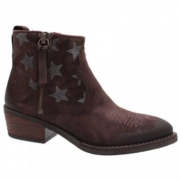 Star Printed Chelsea Boot Double Zip