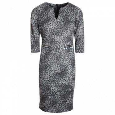 Badoo Animal Chic 3/4 Sleeve Shift Dress
