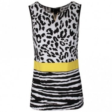 Frank Lyman Animal Print Sleeveless Camisole Top