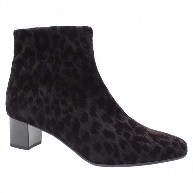 Peter Kaiser Animal Print Textile Ankle Boot