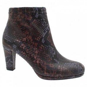 Animal Skin Design Platform Ankle Boot