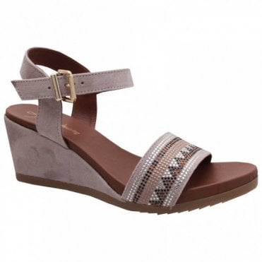 Alpe Ankle Strap Wedge Sandal