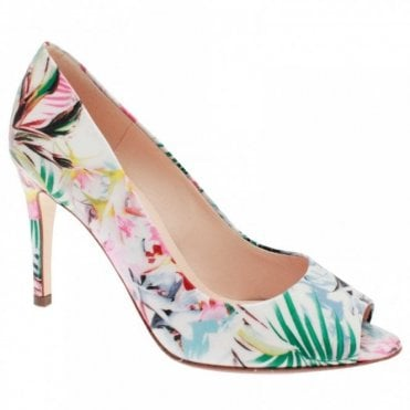 Anna Peep Toe High Heel Court Shoe
