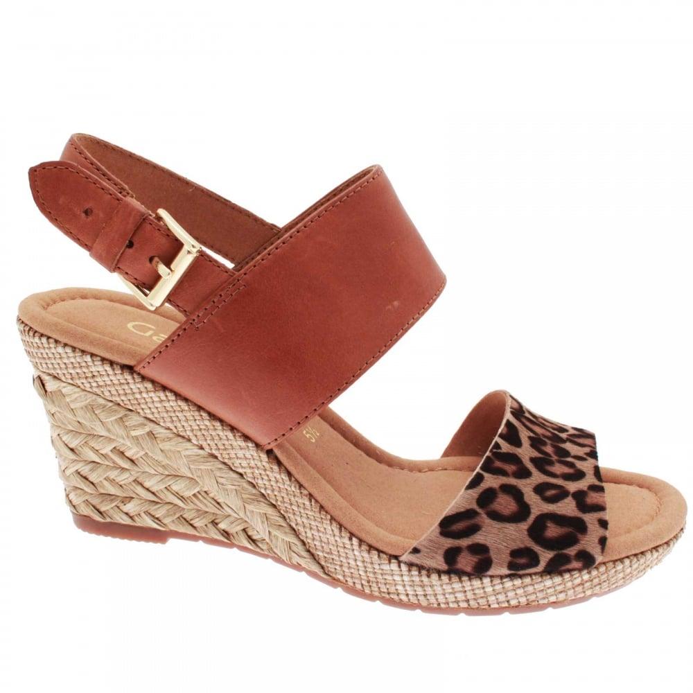 Anna Women's Sandal Print Wedge Leopard QreWCxodB