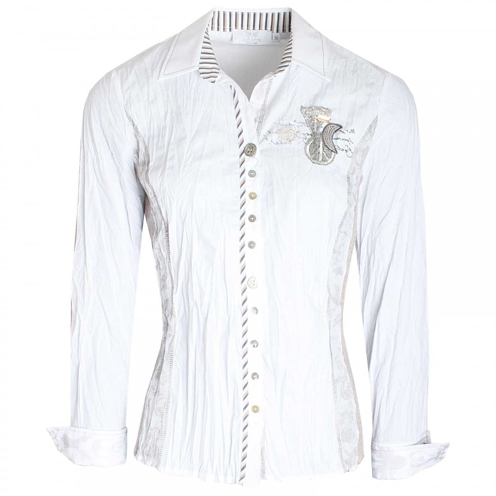 b95e9d43 Assorted Button Long Sleeve Fitted Shirt By Just White At Walk In Style