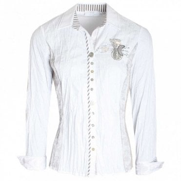 Assorted Button Long Sleeve Fitted Shirt