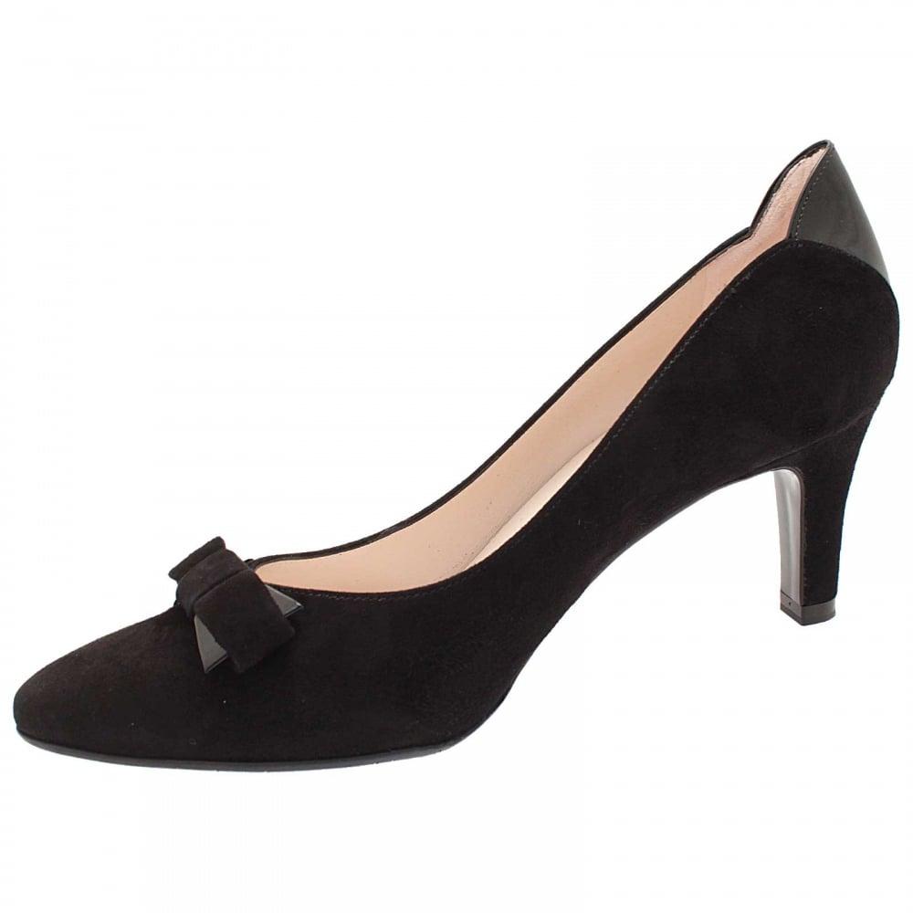 Balita Black Suede Mid Heel Court