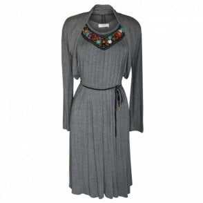 Bead Collar Dress & Bolero