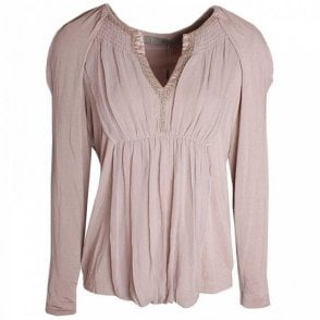 Gustav Beaded Shoulder Detail Silk Tunic