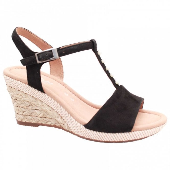 Gabor Beatrice T Bar Wedge Sandal
