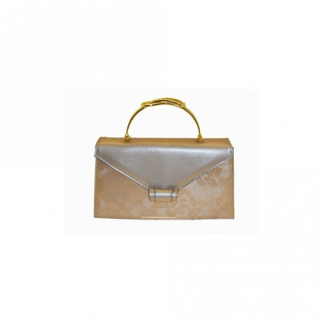 Renata Beige Broc Square Gold Handle