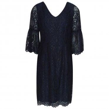 2c071e081a3 Frank Lyman Bell Sleeve Lace Overlay Evening Dress