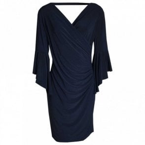 Bell Sleeves Cross Over Dress