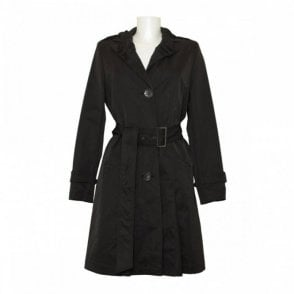Tuzzi Belted Trench Coat With Collar Detail