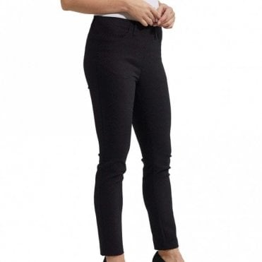 Laurie Black Jacquard Design Slim Fit Trousers
