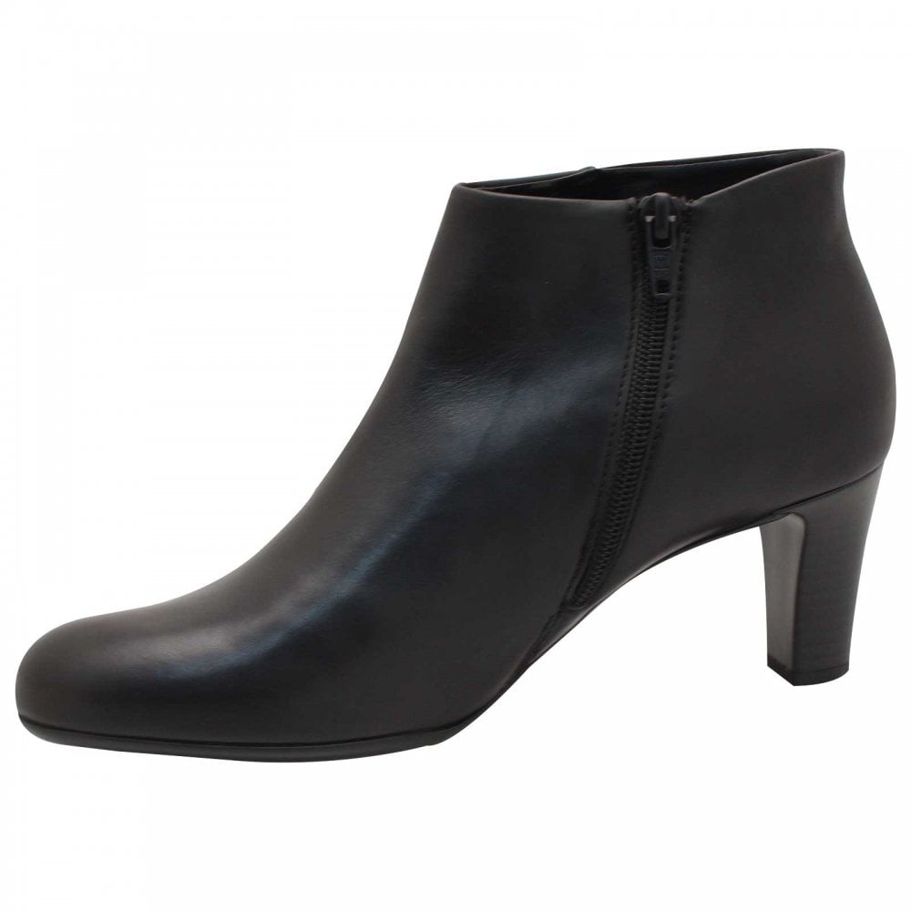 0e89e2c4623 Black Leather Low Heel Ankle Boots