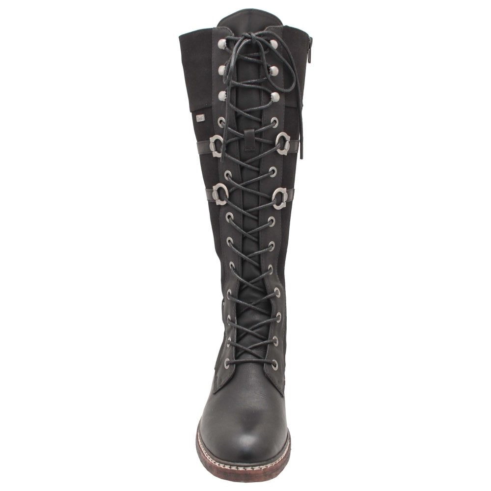 Black Military Style Knee High Lace
