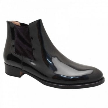 Black Patent Chelsea Ankle Boot