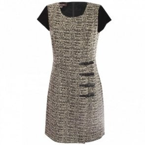 Black Swan Tweed Shift Dress