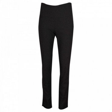 Up! Black Tailored Pull On Trousers