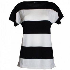 Block Short Sleeves Top