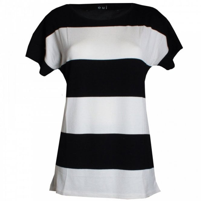 Oui Block Short Sleeves Top
