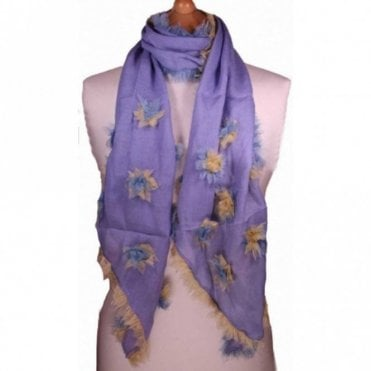 Blossom Delicate Flower Detail Scarf