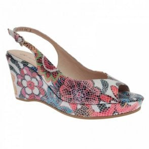 Bobby Multi Print Cork Wedge