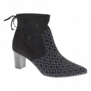 Bolin Block Heel Fabric Ankle Boots