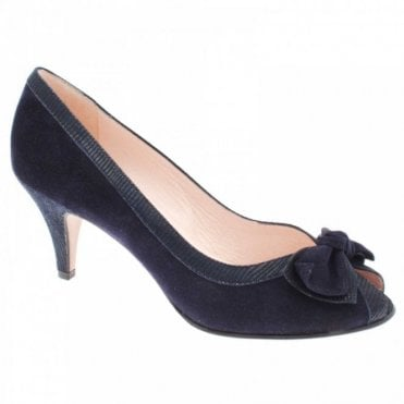 Bow Detail High Heel Peep Toe Court