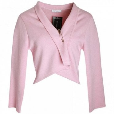 Bow Detail Long Sleeve Knitted Jacket