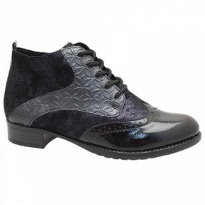 Brogue Style Lace Up Ankle Boot
